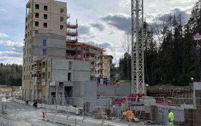 Kv10 Vega – Nybyggnad av flerbostadshus 104 lägenheter, 80 garageplatser och en livsmedelsbutik